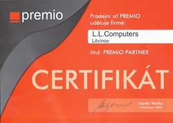 Certifikát Premio